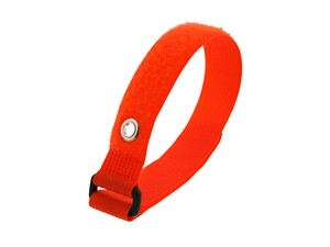 Picture of 12 Inch Orange Cinch Strap with Eyelet - 5 Pack