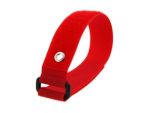 Picture of 12 x 1 Inch Red Cinch Strap with Eyelet - 5 Pack
