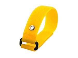 Picture of 12 x 1 Inch Yellow Cinch Strap with Eyelet - 5 Pack