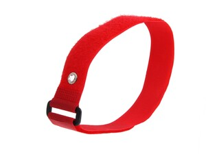 Picture of 18 x 1 Inch Red Cinch Strap with Eyelet - 5 Pack