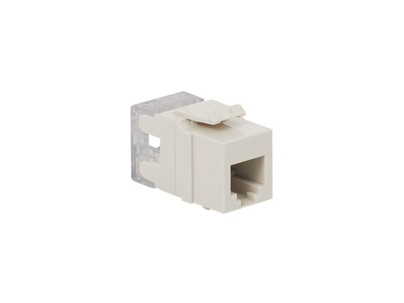 picture of modular keystone jack - rj11 (6p6c) hd - white