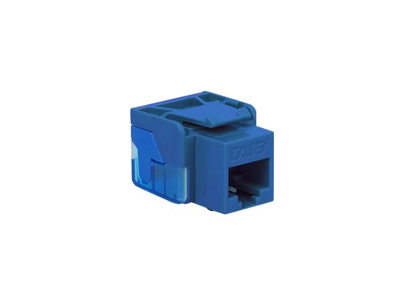 picture of cat5e modular keystone jack - rj45 (8p8c) ez - blue