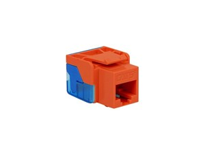 Picture of Cat5e Modular Keystone Jack - RJ45 (8P8C) Ez - Orange