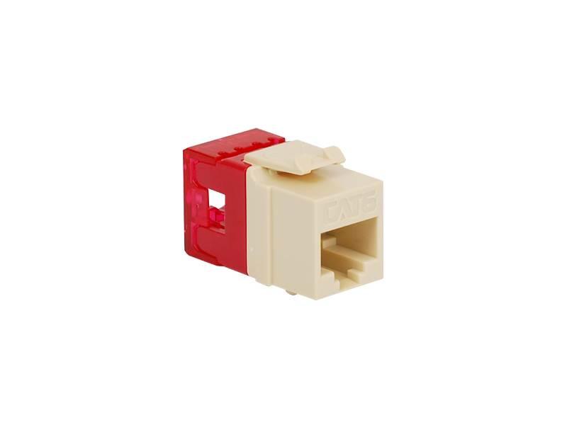 picture of cat 6 modular keystone jack - rj45 (8p8c) hd - almond
