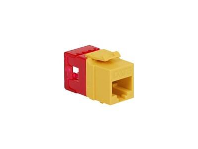 Picture of Cat 6 Modular Keystone Jack - RJ45 (8P8C) Hd - Yellow