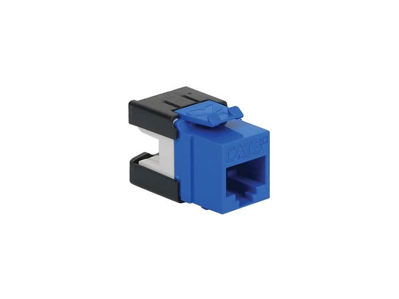 picture of cat 6a modular keystone jack - rj45 (8p8c) hd - blue