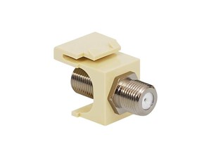 Picture of Coaxial Keystone Jack - F-type Nickel Plated - Almond