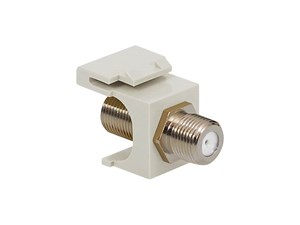 Picture of Coaxial Keystone Jack - F-type Nickel Plated - White