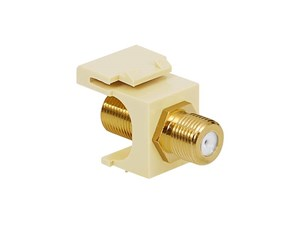Picture of Coaxial Keystone Jack - F-type Gold Plated - Almond