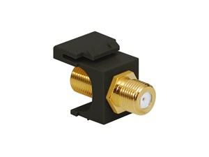 Picture of Coaxial Keystone Jack - F-type Gold Plated - Black