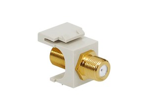 Picture of Coaxial Keystone Jack - F-type Gold Plated - White