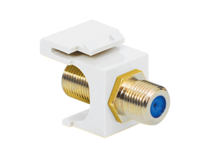 Picture of Coaxial Keystone Jack - F-type Gold Plated - 3 Ghz - White