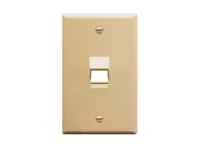 Picture of Faceplate Angled 1-gang 1-port Ivory