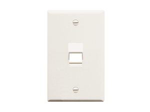 Picture of Faceplate Angled 1-gang 1-port White