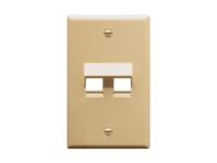 Picture of Faceplate Angled 1-gang 2-port Ivory