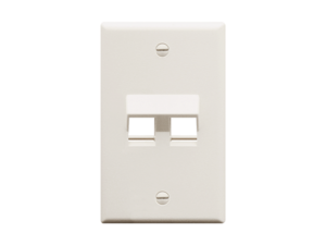 Picture of Faceplate Angled 1-gang 2-port White
