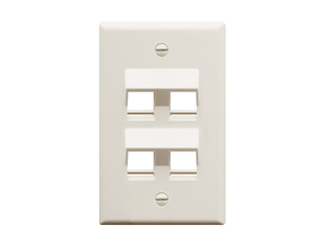 Picture of Faceplate Angled 1-gang 4-port White