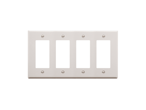 Picture of Faceplate Decorex 4-gang White