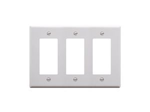 Picture of Faceplate Decorex 3-gang White