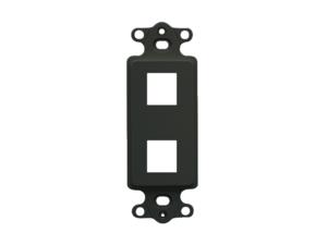 Picture of Blank Insert Decorex 2-port Black