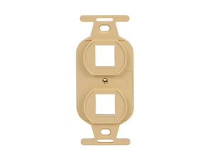Picture of Insert Electrical 2-port Ivory