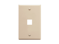 Picture of Faceplate Flat 1-gang 1-port Almond