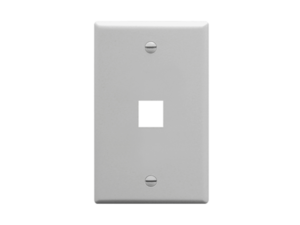 Picture of Faceplate Flat 1-gang 1-port Gray