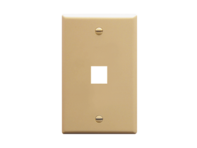 Picture of Faceplate Flat 1-gang 1-port Ivory