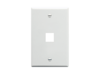 Picture of Faceplate Flat 1-gang 1-port White