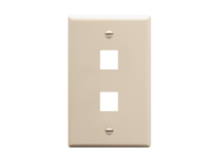 Picture of Faceplate Flat 1-gang 2-port Almond