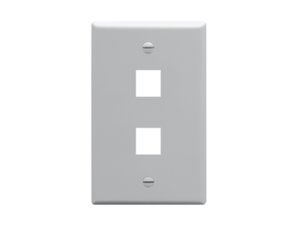 Picture of Faceplate Flat 1-gang 2-port Gray