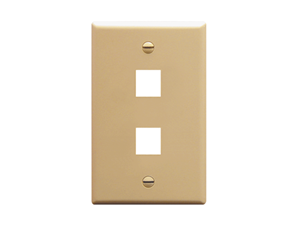 Picture of Faceplate Flat 1-gang 2-port Ivory