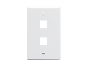 Picture of Faceplate Flat 1-gang 2-port White