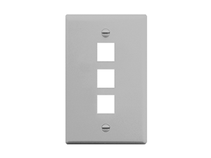 Picture of Faceplate Flat 1-gang 3-port Gray
