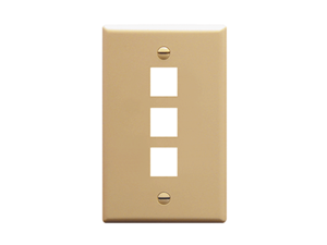 Picture of Faceplate Flat 1-gang 3-port Ivory