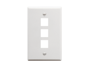 Picture of Faceplate Flat 1-gang 3-port White