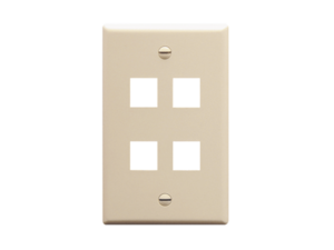 Picture of Faceplate Flat 1-gang 4-port Almond