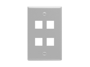 Picture of Faceplate Flat 1-gang 4-port Gray