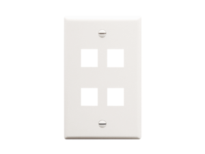 Picture of Faceplate Flat 1-gang 4-port White