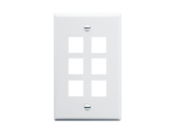 Picture of Faceplate Flat 1-gang 6-port White