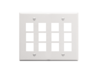 Picture of Faceplate Flat 2-gang 12-port White