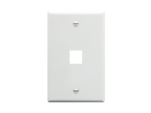 Picture of Faceplate Oversized 1-port White