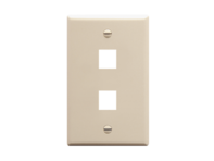 Picture of Faceplate Oversized 2-port Almond