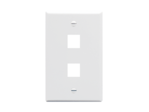 Picture of Faceplate Oversized 2-port White