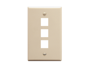 Picture of Faceplate Oversized 3-port Almond