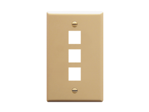 Picture of Faceplate Oversized 3-port Ivory