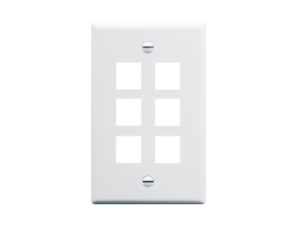 Picture of Faceplate Oversized 6-port White