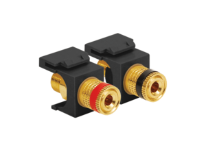 Picture of Gold Plated Binding Post Pair  - 1 Red 1 Black - Black