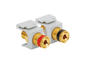 Picture of Gold Plated Binding Post Pair  - 1 Red 1 Black - White