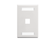 Picture of Blank Faceplate Id 1-gang 1-port White